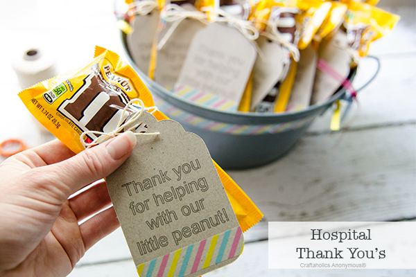 Beach Pail Party Favors Saying Thank You For Coming: Hospital Thank You's For Baby