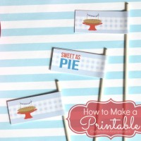 How to Make a Printable Tutorial
