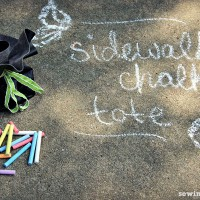 Drawstring Pouch Tutorial – No-Sew Sidewalk Chalk Tote!
