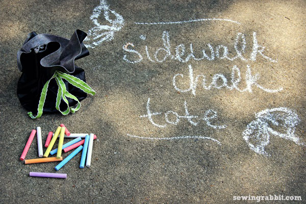 sidewalk chalk drawstring pouch tutorial!