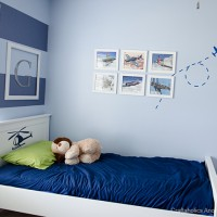 Boys Room Makeover Airplane Wall