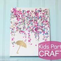 Kids Party Craft: Confetti Canvas