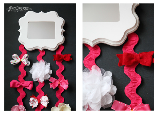 how to make a hair bow holder