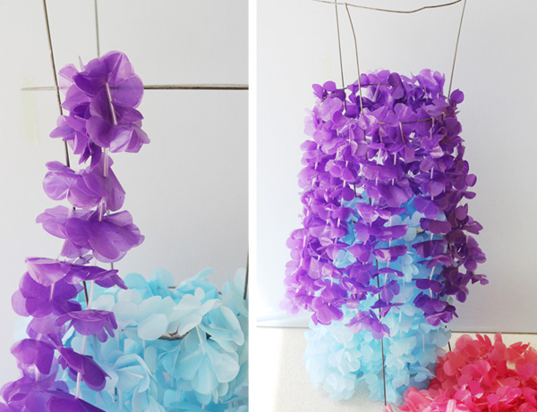 easy lei chandelier