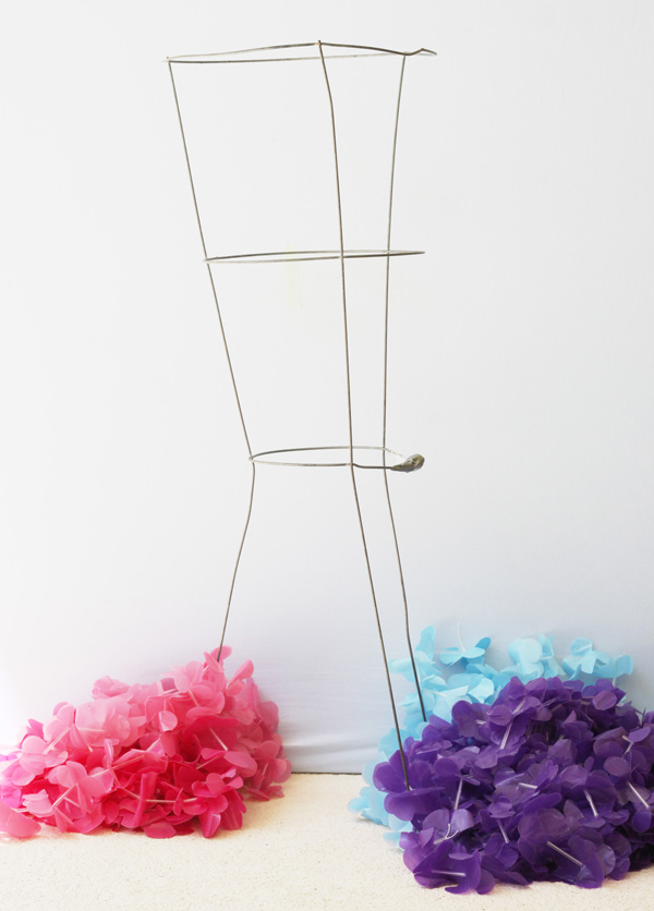 how to make a lei chandelier