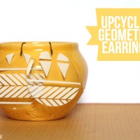 Earring Tutorial: Upcycled Geometric Earrings