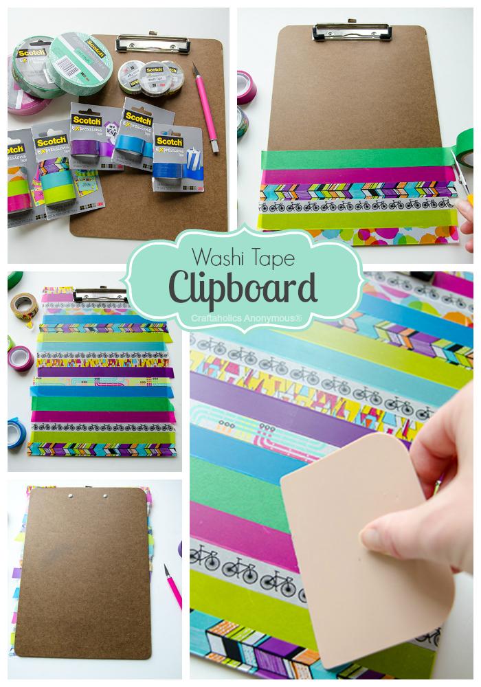 washi tape clipboard