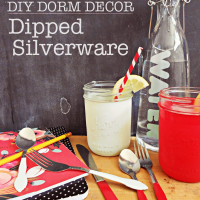 Dorm Decor – DIY Dipped Silverware