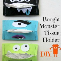 Halloween Craft: Boogie Monster Tissue Holder