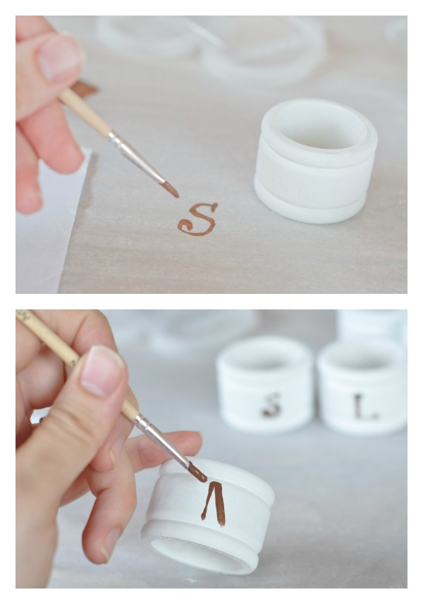 monogram napkin ring tutorial