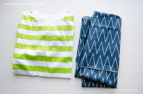 DIY pocket t-shirt