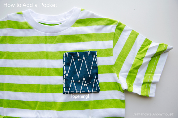 how to add a pocket