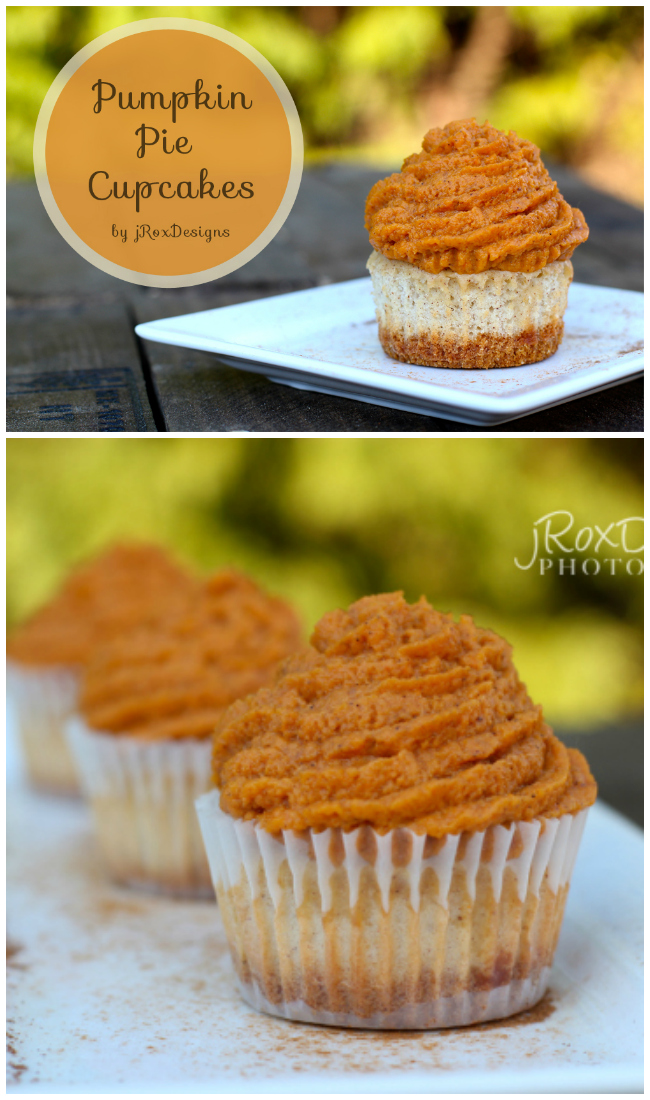 Pumpkin Pie Cupcakes recipe. These are simply delicious! Pumpkin pie in your hand.