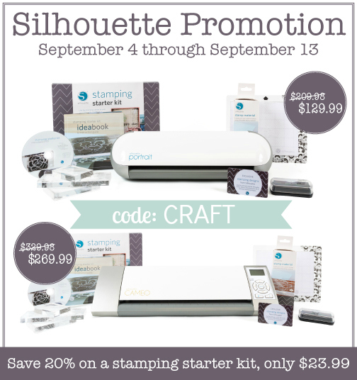 silhouette stamp kit discount