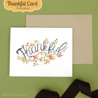 Thankful Card- Free Printable!