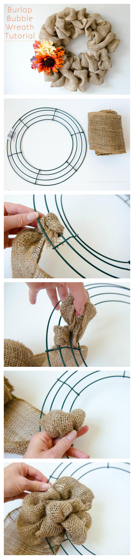 burlap bubble wreath tutorial