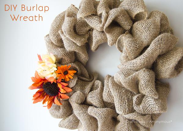 easy burlap wreath