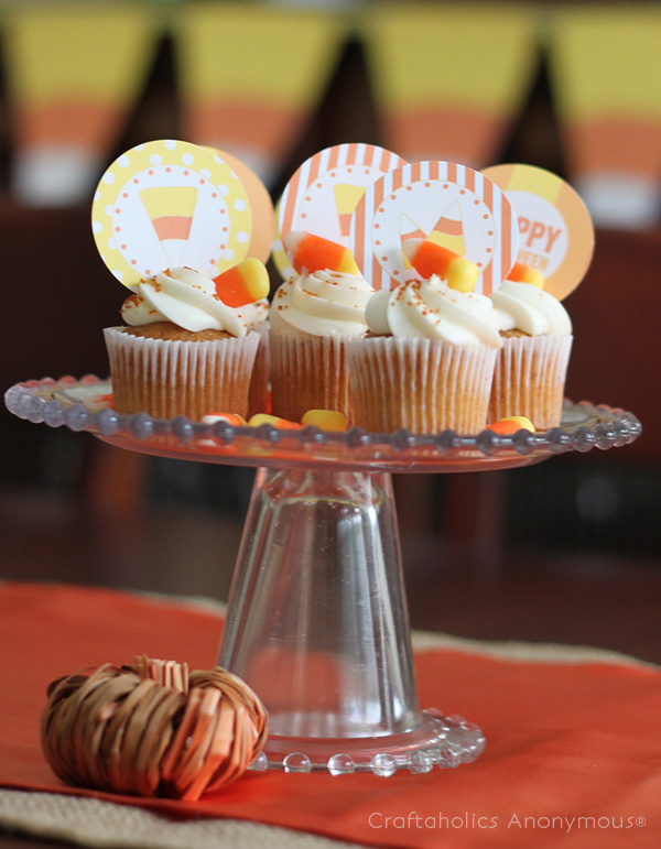 candy corn cupcake toppers