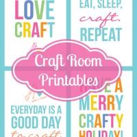 Free Craft Room Printables!