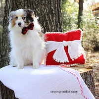 How to Sew a Christmas Pom Pom Pillow