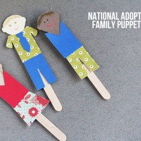 National Adoption Day Craft: Family Puppets