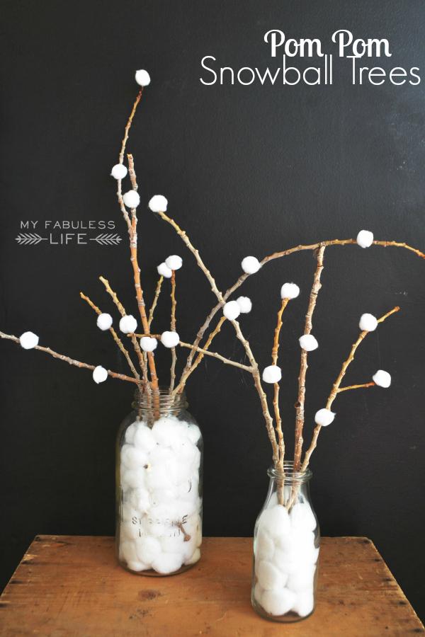 pom-pom-snowball trees