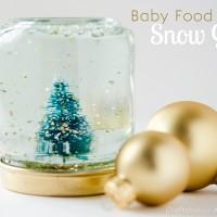 Baby Food Jar Snow Globes Tutorial