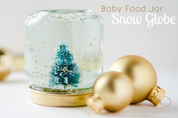baby food jar snow globes
