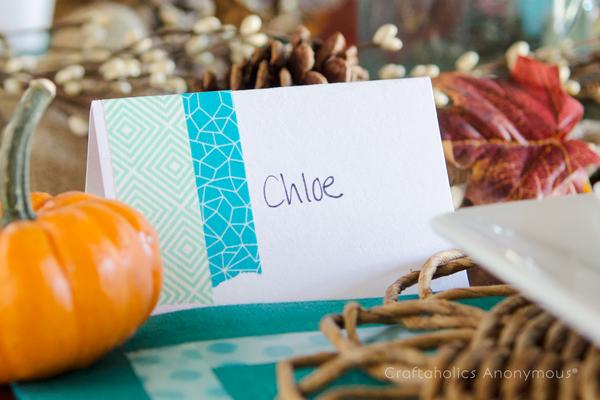 thanksgiving name card