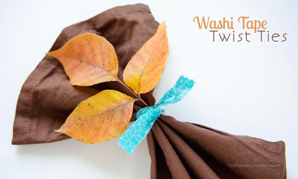 washi tape twist tie