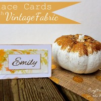 Vintage Fabric Place Cards