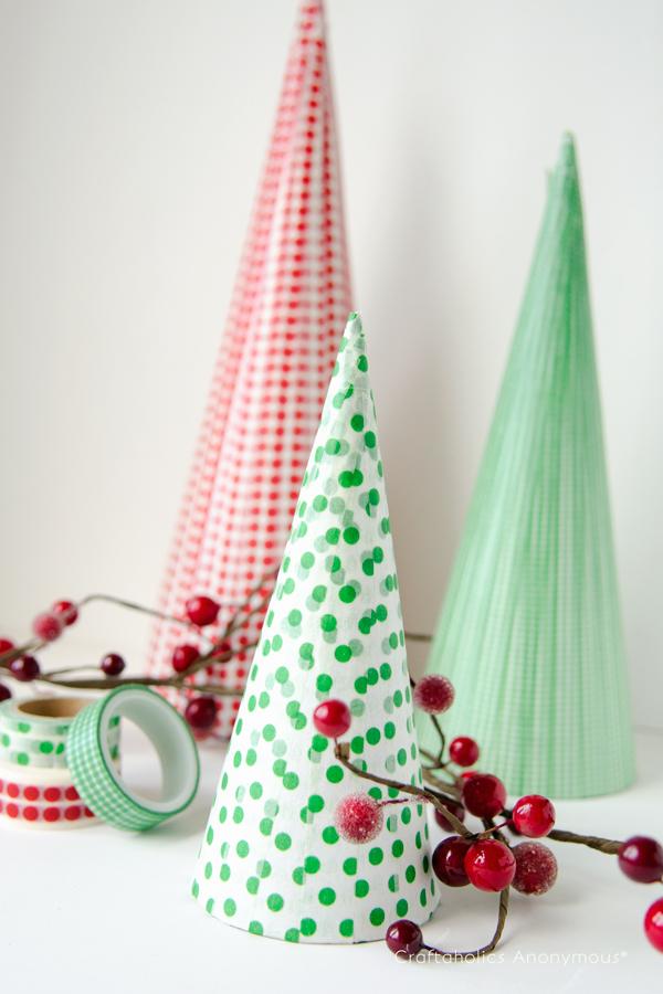 washi tape christmas craft
