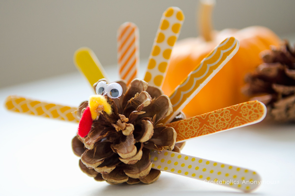 pinecone turkey craft the cutest thanksgiving kid crafts goedeker s home 2686
