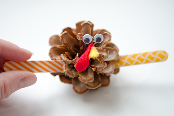 washi tape turkey craft