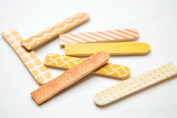 washi tape thanksgiving craft