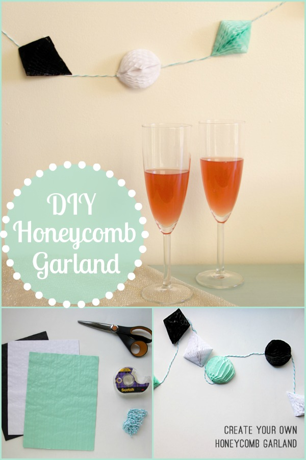 Create Your Own Honeycomb Garland - New Years Eve DIY Decor