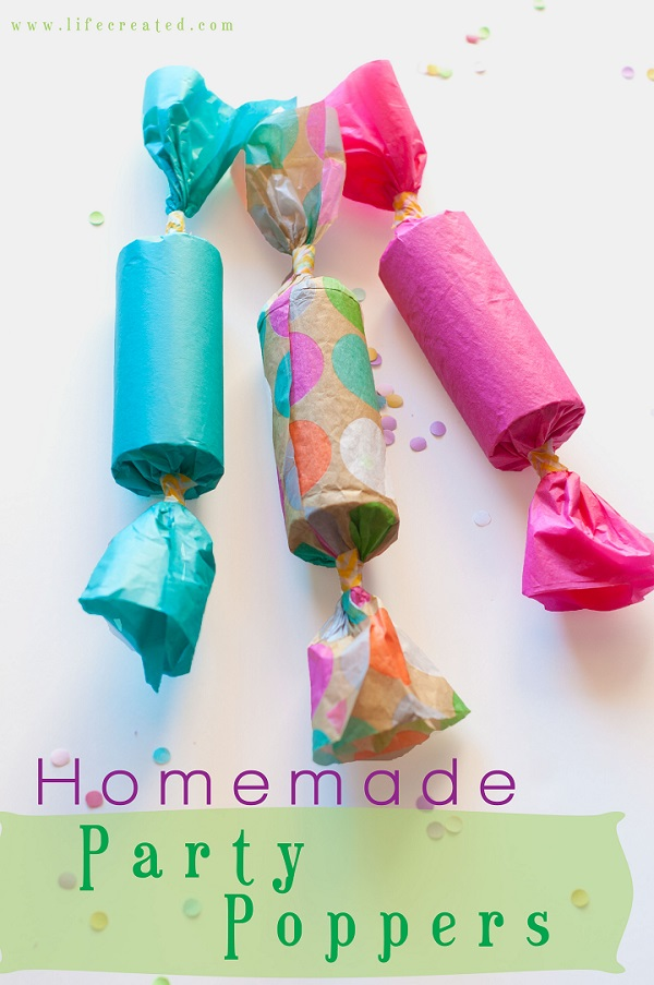 party poppers tutorial