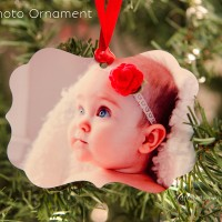 Shaped Metal Photo Ornaments + Giveaway!