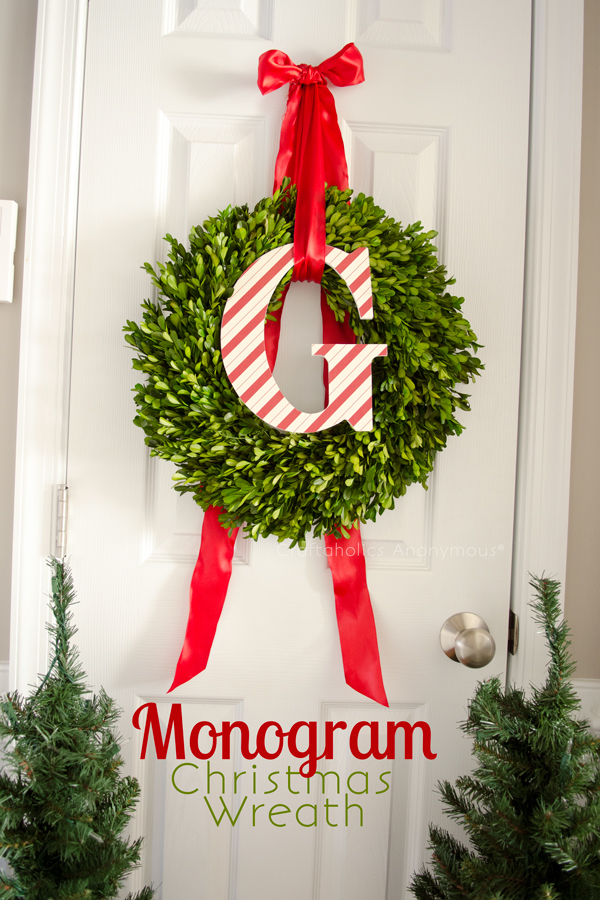 monogram christmas wreath