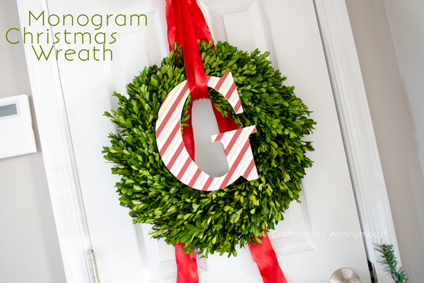 Craftaholics Anonymous 174 Monogram Christmas Wreath Tutorial