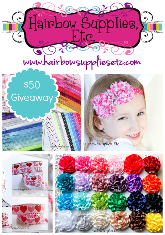 hairbow supplies giveaway