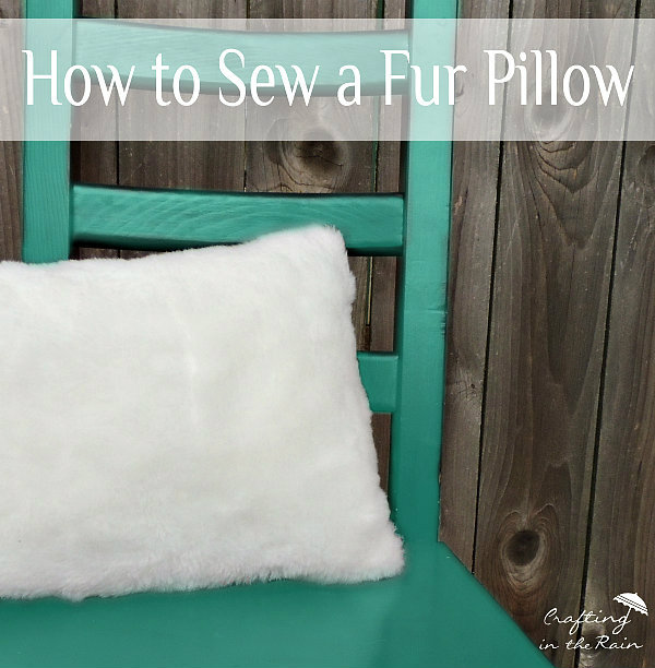 how to sew a faux fur pillow