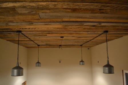 wood ceiling tutorial