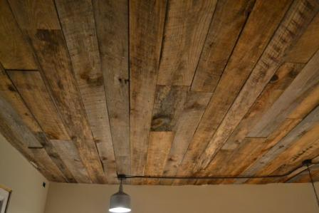 wood ceiling diy
