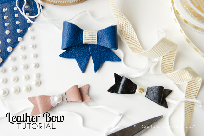 leather bow tutorial