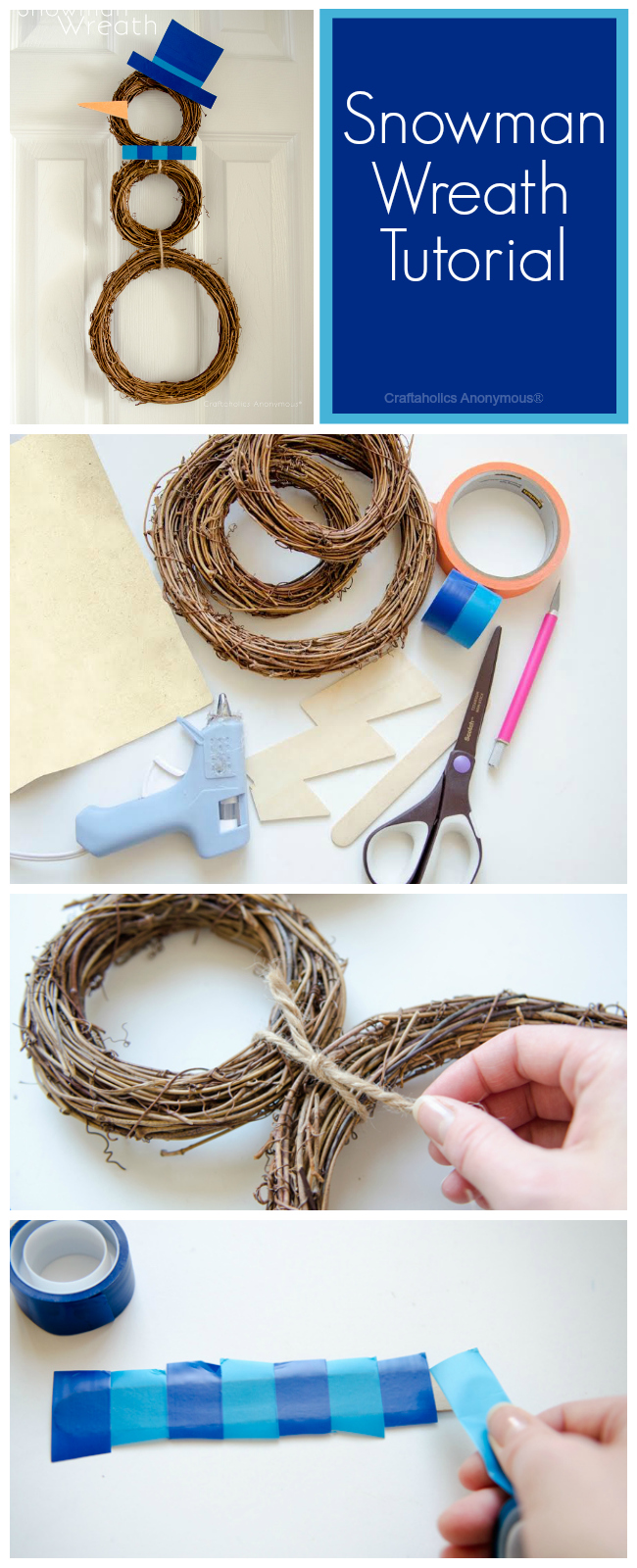 snowman wreath tutorial