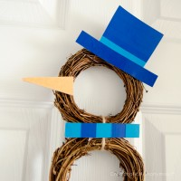 Easy Snowman Wreath Tutorial #ScotchEXP