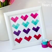 Valentine's Day Washi Tape Hearts #ScotchEXP