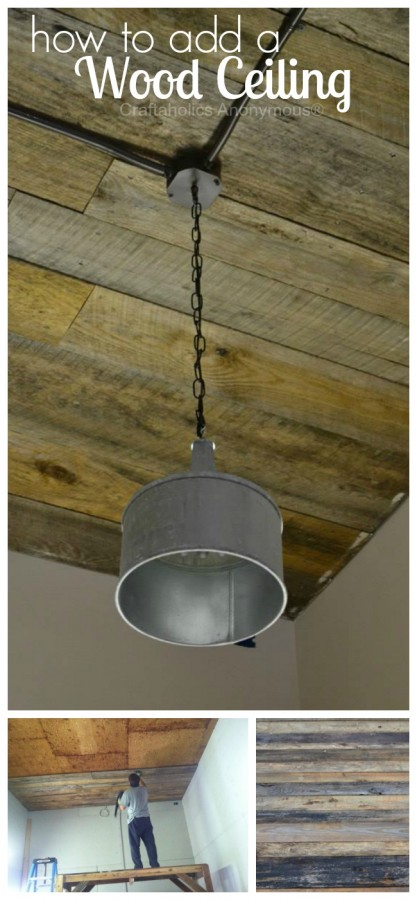 wood ceiling how to