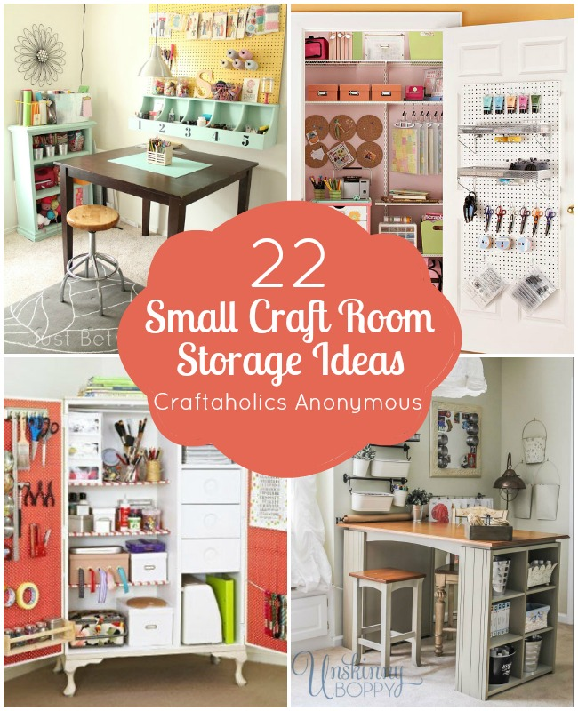 Craftaholics Anonymous� | Small Craft Room Storage Ideas